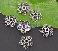 50pcs Tibetan Silver Charms Flower Bead Caps spacer beads cap 10x2.5mm F3113