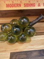 Vintage Retro Acrylic Lucite Grape Cluster bunch Green Mid Century MCM 12 Nice