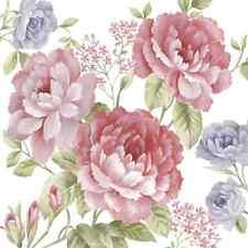20 las servilletas de papel Julietta Decoración Flores Primavera Decoupage 33x33cm