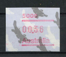 "Australia de 1986, 36c Ornitorrinco Frama Etiqueta "" 5000"" Mnh #a 77524"
