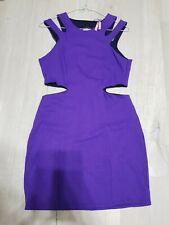 Lipsy Women's Purple Sleeveless Mini Summer Party Cocktail Evening Dress Size 14