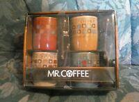 Mr. Coffee Café Americano 8 Piece 13 Ounce Mug Set with Spoons (NEW)