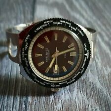Vintage Timex Diving Watch - Mens Manual Wind,  World Time Bezel - Working