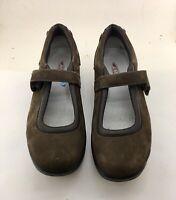MBT Suede Chocolate Mary Jane Kaya Toning Walking Shoes Woman's Size 10
