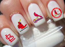 St Louis Cardinals Nail Art Stickers Transfers Decals Set of 50