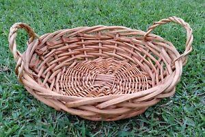 """Wood Wicker fruit Basket 18"""""""