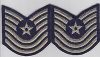 OBSOLETE US AIR FORCE RANK PATCH LOT CHEVRONS GENUINE USGI PAIR M/SGT MINT!