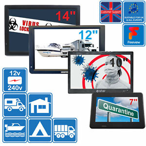 """7"""" - 14"""" LCD HD TV Freeview For Home Quarantine Hospital Wards Bedroom Kitchen"""