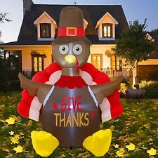 NEW!! Thanksgiving Decorations Inflatable Lighted Turkey, 6FT Blow up Turkey