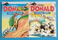 Donald Duck von Carl Barks Entenhausen - Edition Band 63 + 64 ungelesen 1A