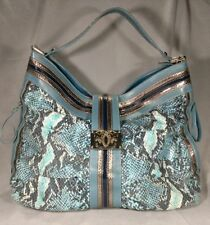 Sharif 1827 Large Snake Embossed Leather Shoulder Bag Purse  ANB