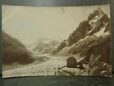 cpa photo 74 edition perrochet chamonix mer de glace gare du montenvers train