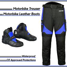 Waterproof Armor Bike Racing Motorbike Textile Trouser Motorcycle Leather Boots