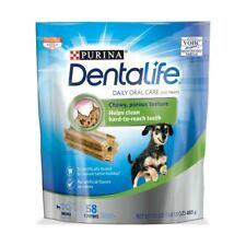 Purina Dentalife Made in USA Facilities Toy Breed Dog Dental Chews Daily Mini 58
