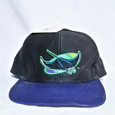 VTG Tampa Bay Rays Logo 7 Snapback Hat NWT MLB Devil Baseball Splash Sharktooth