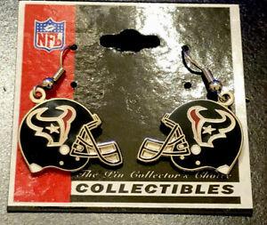 Houston Texans 2002 Collectible NFL Earrings Helmet Football Dangle Earrings