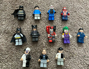 Lego Batman Figuren Konvolut Joker Catwoman Alfred Twoface Bruce Wayne Spiderman