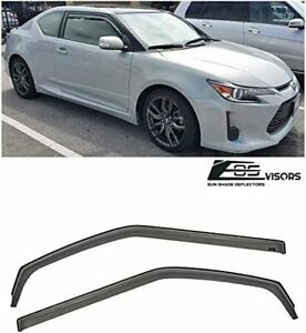 JDM SMOKE TINTED Side Vents Sun Shade Rain Deflectors For 11-16 Scion tC Gen 2