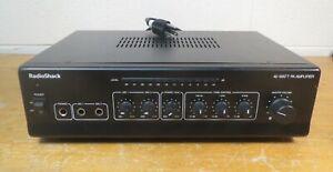 RadioShack 32-2054, PA Amplifier, 40 Watts, Dual Microphone, Phono/Aux - TESTED