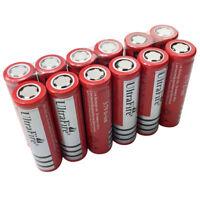 1/2/4/6/8/10X Flat Top 18650 3.7V 6800mAh Li-ion Rechargeable Battery Flashlight