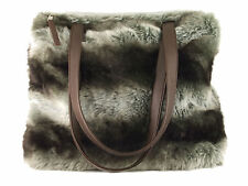 Fun furry winter tote/shoulder bag - available in faux fur beige or grey