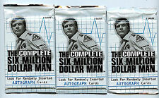 Six (6) Million Dollar Man Rittenhouse Archives 3X Card Packs New 2004 Z3