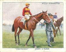 N°29 Cheval course Horse Contrevent Sport Racehorse Jockey 1938 IMAGE CARD 30s