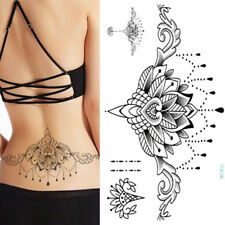 Henna Black Lace Temporary Chest Tattoo  Adult Sexy Body Art Belly Dancer