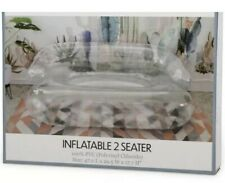 New! Inflatable Couch, 2-Seater, 47in x 29.5in, Clear,