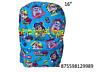 "Nickelodeon Paw Patrol Boys Front Over Print 16"" School Backpack -9989"