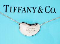 Tiffany & Co Elsa Peretti Sterling Silver Bean Pendant Necklace