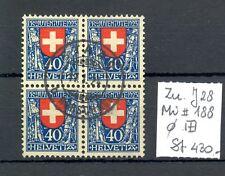 SWITZERLAND ZU# J 28 --BLOCK OF 4 -CV -Sfr. 430 --USED LUXE