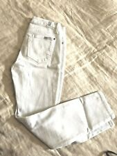 7 FOR ALL MANKIND WOMEN'S WHITE SKINNY  JEANS, SIZE 24