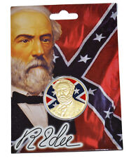 American Civil War Gold  Coloured General Robert E. Lee Collectors Coin NEW