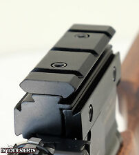 9.5-11mm Dovetail to 20mm Weaver rail adapter for airgun or rifle scopes