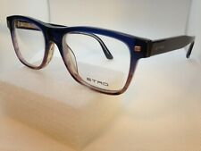 New Authentic ETRO Eyeglasses ET2610 428 Blue/Brown 54-17-145mm Frame T1
