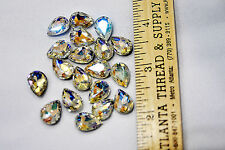 Rhinestones Teardrops Crystal AB  14 x 10 Pageant brooch 18 count.. pageant,