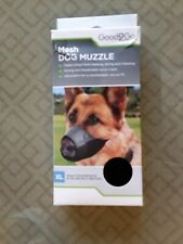 Good2Go Nylon & Mesh Dog Muzzle X-Large Circumference 8-10.5 inches Black Gray