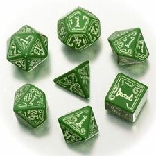 Call of Thulhu Official Dice Set - green, glowing
