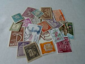 Collection lot 20 different Andorra stamps