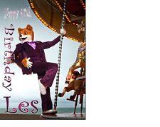 Foxy Bingo Fox Birthday card Personalised A5