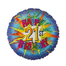 """HAPPY 21st BIRTHDAY Helium Foil Balloon 18"""" - Party Decoration Gift - Free Post"""