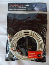 New listing Impact Acoustics Precission Audio/Video Interconnects 25ft. Cables