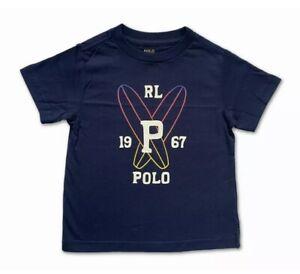 New Polo Ralph Lauren Short Sleeve T Shirt Top RL 1967 P Navy Blue Age 6 120