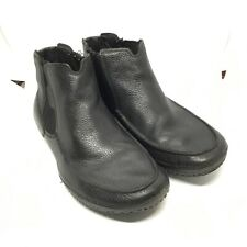 Tsubo Mens Black Leather ankle driver boot size 9.5
