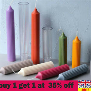 Long Pole Candle Mold Plastic Pillar Candle Making DIY Candle Mould Supplies Nsx