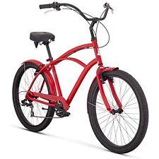 Raleigh Bikes Cruiser Bikes Retroglide 7 Mens Cruiser Bike, 26One Size, Red