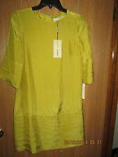Burberry Silk Chartreuse Dress Size 4
