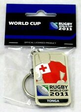 33666 RUGBY WORLD CUP 2011 TONGA SILVER JERSEY FLAG KEYRING KEY RING