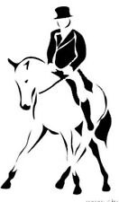 DRESSAGE HALFPASS HORSE STICKER DECAL BRAND NEW FOR CAR,FLOAT, TACK BOX